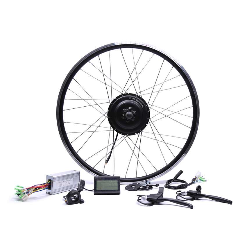 2017 Bicicleta Eletrica 48v500w Bafang Front/rear Electric Bike Conversion Kit Brushless Hub Motors 20'' 26'' 28''diy Wheel 2017 36v250w bafang front rear electric bike conversion kit brushless hub motors motor wheel ebike system