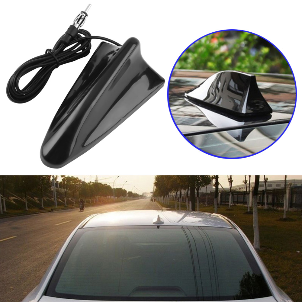 Universal Shark Fin Car Truck Radio FM Antenna Universal RV ABS Aerial Top Roof Hot Sell ...