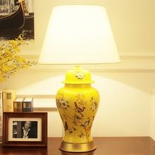 American Gold Keramik Tischlampe Luxus Stoff Von Moderne Tischlampen Wohnzimmer Schlafzimmer Nachttischlampen Schreibtischlampe
