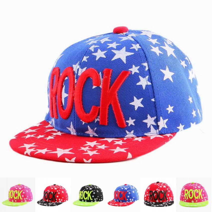 8604e945ef5 3 to 12 year old girl boy hip hop snapback caps hat embroidery letter star  fuchsia red black blue sports children baseball cap