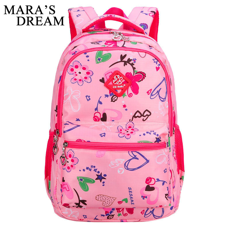 Maras Dream 2018 Children School Bags For Girls Printing Backpack Waterproof Oxford Kids Shoulder Book Bag Pack Mochila 2 Sizes
