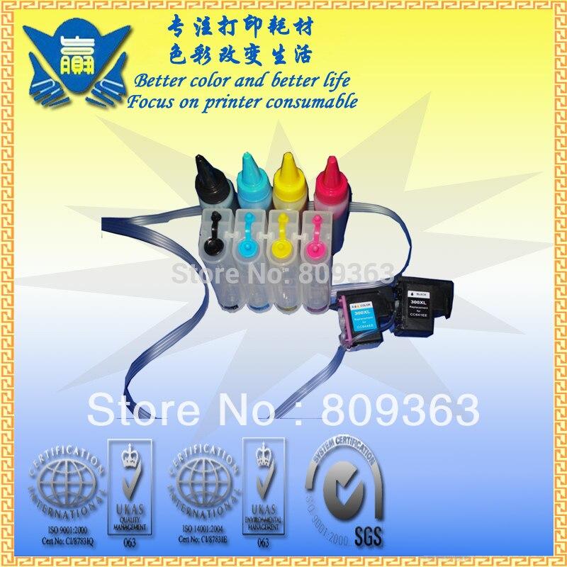 Система непрерывной подачи чернил для HP300 Система непрерывной подачи печатных красок с чернилами hp Deskjet F2410 F2418 F2480