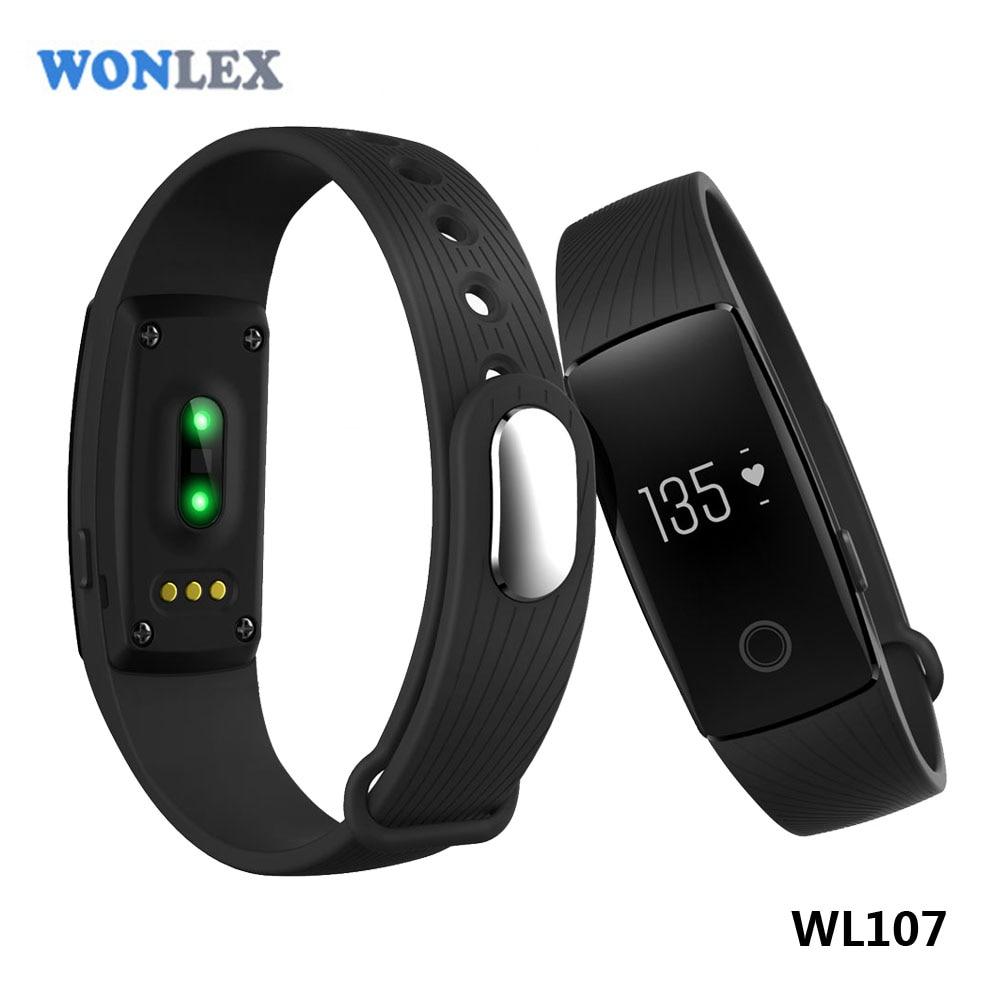 imágenes para Wonlex Pulsómetro Salud Pulsera Inteligente Perseguidor de La Aptitud Podómetro Pulsera para IOS y Android BT4.0