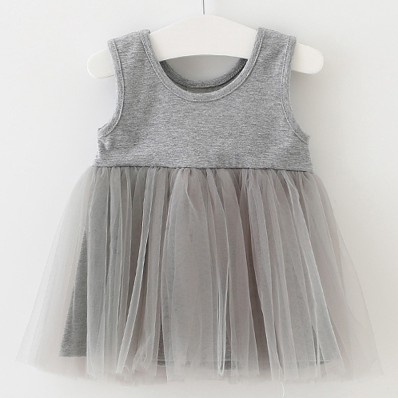 Summer Hot Sales Baby Girl Clothes Newborn Sleeveless Net Yarn Tutu Dress Toddler Birthday Party Christening Gowns Vestidos Infa