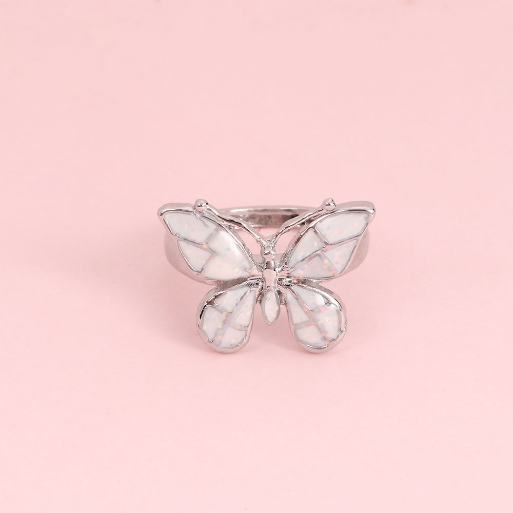 Opal-Rings Butterfly-Shape Jewelry Wedding-Band High-Charming Fashion Women for Party