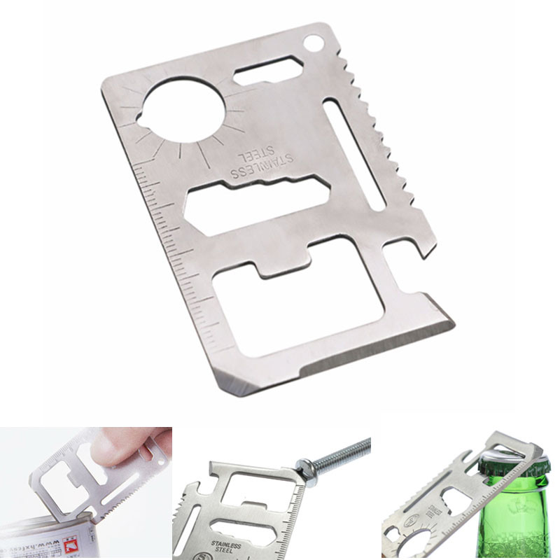 multifunction camp gadget card multipurpose opener multi pocket survive bottle kit wallet outdoor tool edc gear(China)