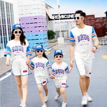 Active Family Matching Outfits Mother Daughter Father Son Clothing Sets Mommy Daddy and Me Clothes Summer Family Look Dress ML недорого
