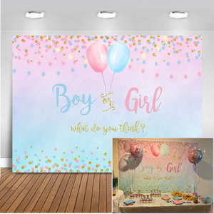 Mehofoto Gender Boy or Girl Party Decoration Banner Photo Background Glitter Design Photography Backdrop Balloon backdrop 303