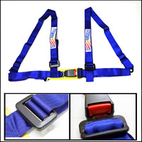 Universal car styling 4-point Car Auto Racing Sport Seat Belt Safety Harness Strap (BLACK BLUE RED)