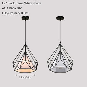 Image 2 - 現代の鉄塗装産業シャンデリアE27ダイヤモンドシャンデリアled 220 12v照明リビングルームキッチン寝室バーホテル