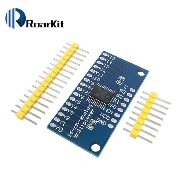 CD74HC4067 Module de carte de dérivation multiplexeur numérique analogique 16 canaux pour microcontrôleur Arduino 2 V-6 V 16 lignes RX