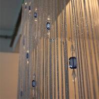 Hotsale 1*2.8m upscale bright thread beads crystal bead curtain thread door curtain off the entrance curtain home decoration