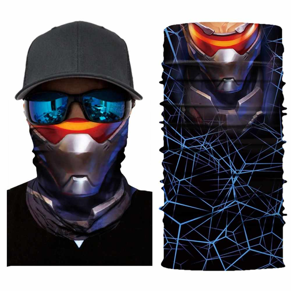 3D Skeleton Seamless Magic Neck Cycling Motorcycle Head Warmer Face Mask Ski Balaclava Headband Tube Scarf Iron Man Batman #30