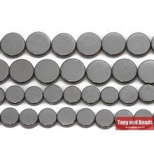 Pietra naturale senza forma rotonda magnetica perline di ematite nera 6 8 MM 15