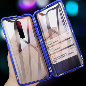 Magnetic Phone Case For Xiaomi Redmi K20 Pro K30 Note 8 Pro 7 Aluminum Bumper Double Glass Cover Mi Note 10 CC9 Pro 9 9T A2 Case