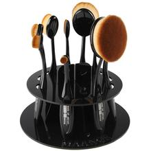 Round brush holder PMMA material use for toothbrush makeup brush exhibition or drying makeup tools special for oval brush