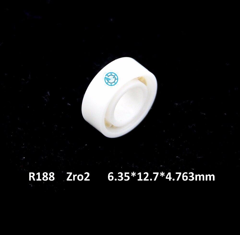 Free shipping high quality R188  R188ZZ full ZrO2 ceramic deep groove ball bearing 6.35*12.7*4.763mm 6.35x12.7x4.763mm free shipping mr106 6 10 3mm full zro2 ceramic deep groove ball bearing 6x10x3mm high quality fishing bearing