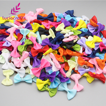 Lucia crafts 3.5*2cm Multicolors Grossgrain Bows Girls Boutique Mini Hair Bow Headwear DIY Garment Craft 12pcs/24pcs 14020016