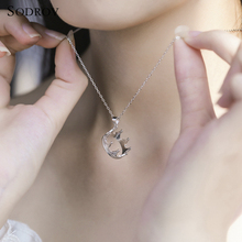 Classic noble authentic 925 sterling silver crown pendant necklace womens Chokers gift high jewelry joyas de plata N006
