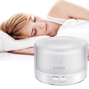 Image 2 - ATWFS Remote Control Ultrasonic Essential Oil Diffuser Air Humidifier Aroma Diffuser Fogger 7 Color LED Aromatherapy Mist Maker