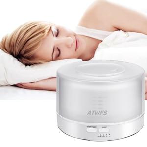 Image 2 - ATWFS التحكم عن بعد بالموجات فوق الصوتية زيت طبيعي معطر الهواء المرطب ناشر رائحة مبيد 7 لون LED الروائح ضباب صانع