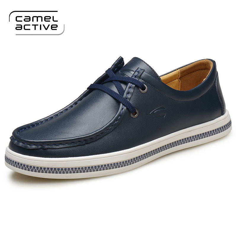 Camel Active Brand Genuine Leather Men Casual Shoes Spring 2018 New Arrival Breathable Soft Men's Handmade Flats Men Shoes K992 2015 new fashion british martin causal genuine leather men shoes brand camel men shoes real leather men flats casual shoes man