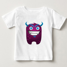 Little monster boys and girls kids summer cotton t-shirts childrens short sleeved clothes cute T-shirt MJ