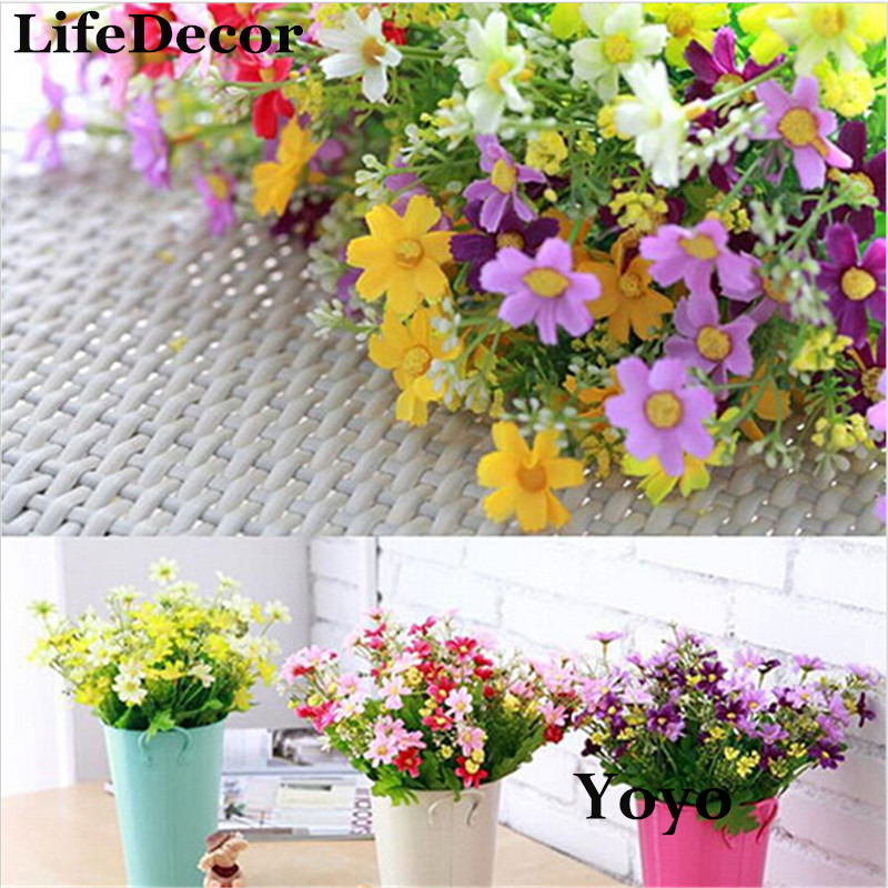 Silk artificial flowers for wedding home decoration 28 Artificial flower decoration for home