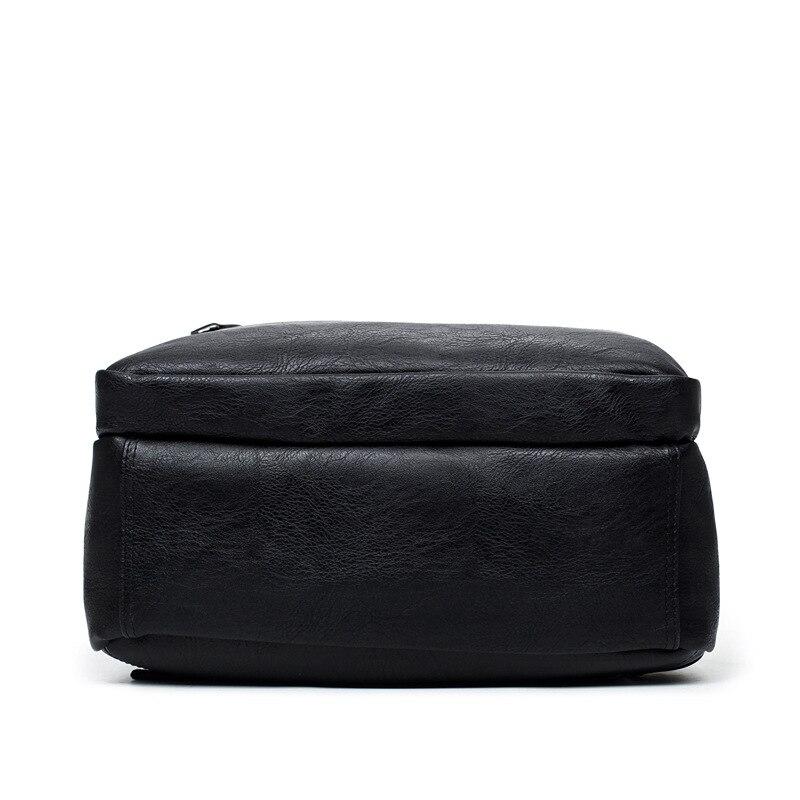 Luxe merk bookbags mannen rugzak leer mannelijke functionele tassen - Rugzakken - Foto 5