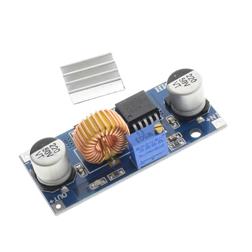 1 Pcs 5A XL4015 DC-DC 4-38V untuk 1.25-36V 24V 12V 9V 5V Step Down Adjustable Power Supply Modul LED Lithium Charger dengan Heat Sink