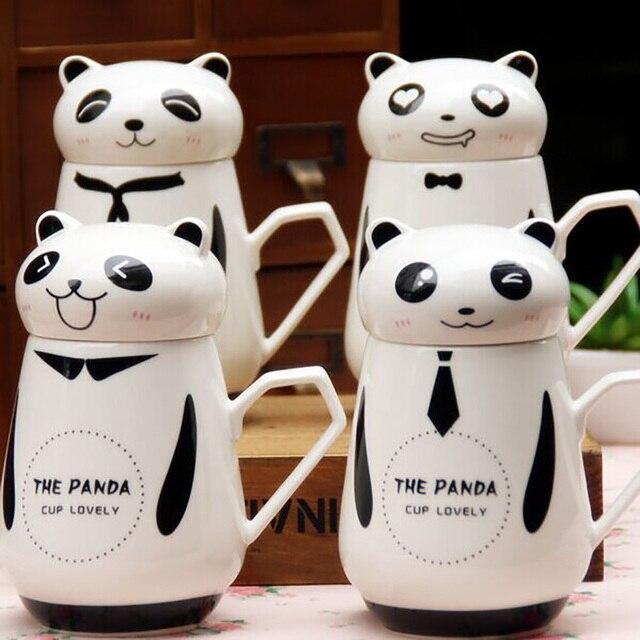 Exquisito lindo taza de cer mica con tapa de china panda for Tazas de te con tapa