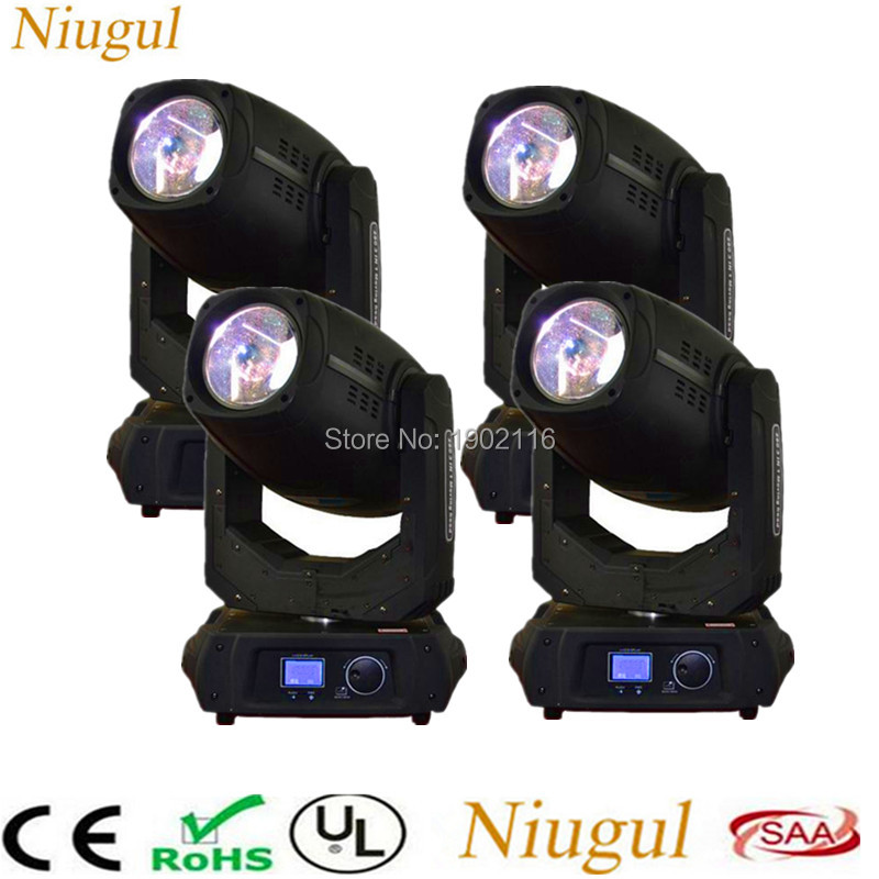 4pcs 280W 10R Beam Spot wash Moving Head Light Beam 280 Beam 10R 280W Stage Light Disco club BAR DJ DMX stage effect lighting