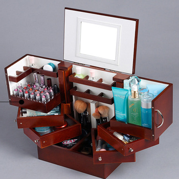 cosmetic storage wooden Jewelry Box