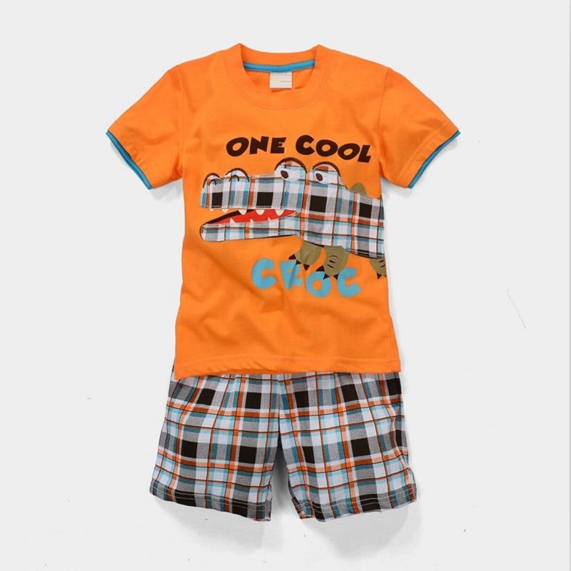 2021 Baby Boy Clothes Suits Summer Children T-Shirts Shorts Pant 2-Piece Clothing Set Beach Kids Outfits Sport Suit 2 3 4 5 6 7Y 4
