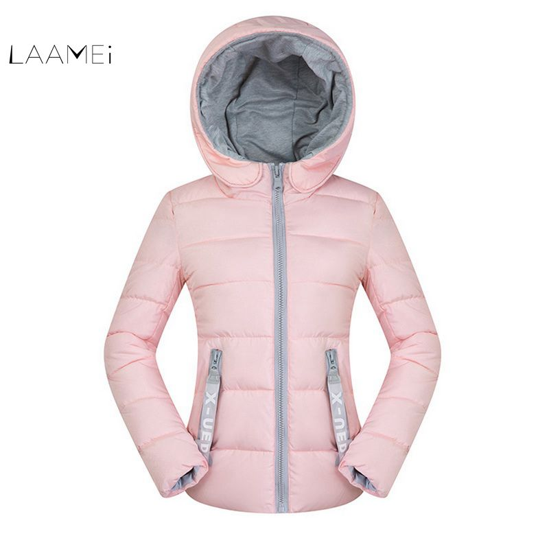Laamei 2018 New Winter Jackets Womens Short   Parkas   Fashion Outerwear Solid Hooded Coats Female Basic Tops Wadded Plus Size 4XL