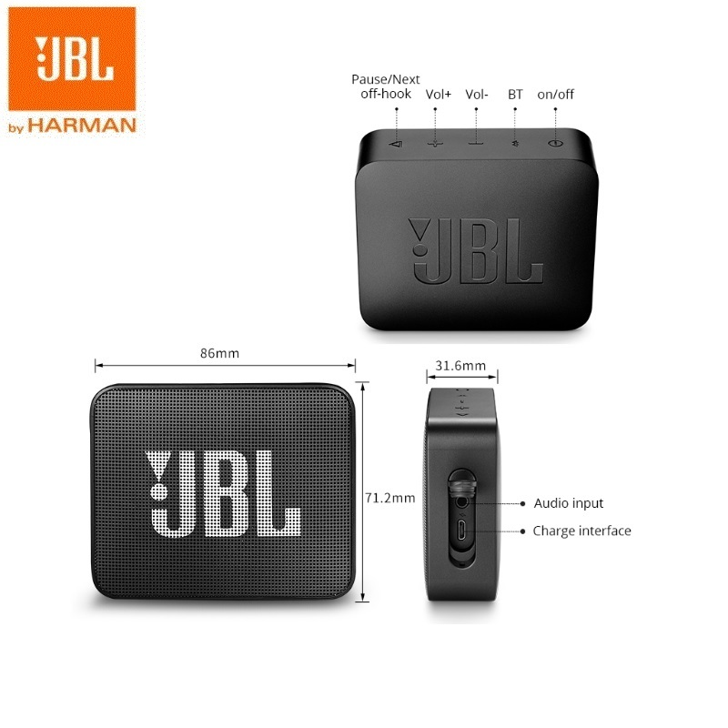 Image 5 - JBL Go 2 Mini Portable Wireless IPX7 Waterproof Bluetooth Speaker with Subwoofer Bass Effect-in Portable Speakers from Consumer Electronics