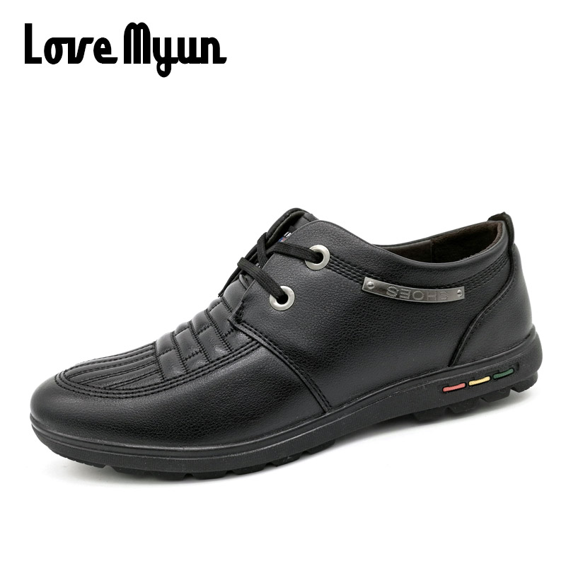 clearance sale !!New Spring  Autumn Casual Fashion Men pu Leather Waterproof Shoes  male Oxfords Breathable Flat Footwear KC-628 2017 new spring imported leather men s shoes white eather shoes breathable sneaker fashion men casual shoes