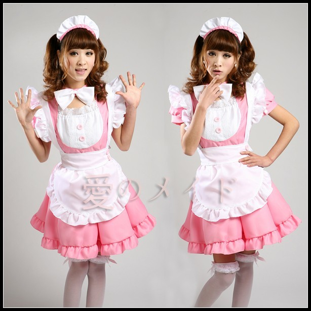 Free Shipping Cheap Sweet princess Lolita Maid Anime Cosplay Clothes Costume Halloween Dress