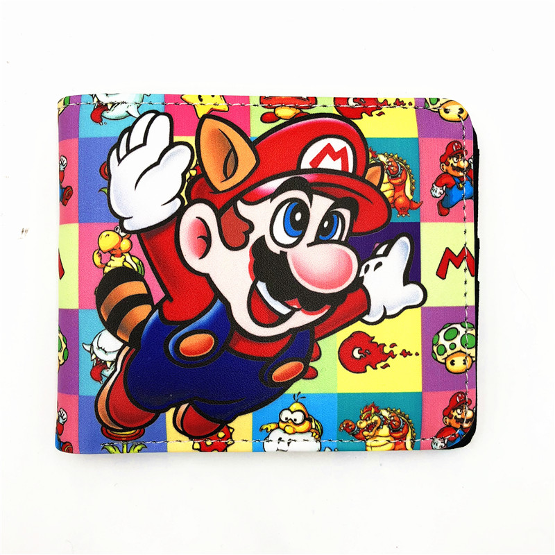 Cartoon Super Mario Wallet Women Men Casual Short Wallet slim purse Card Holder Teenagers Money Cash Bag W479