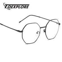 e5ca4895f12b TOEXPLORE Men Women Metal Eyewear Frame Vintage Retro Optical Frame Brand  Designer Glasses Reading New Fashion High Quality