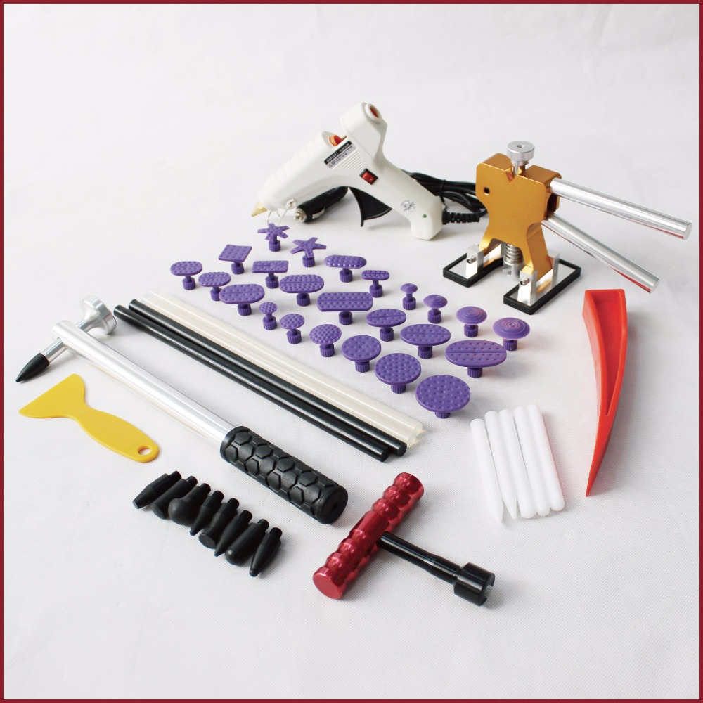 pdr tools kit dent repair paintless car body glue puller tabs remover set hammer lifter t bar magic super hotbox tap down auto paintless dent repair pdr tools aluminum tap down hammer pdr slide hammer pdr glue tabs wedge t bar puller car dent fix auto