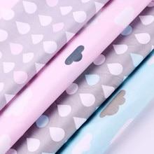2pcs/Lot 100% Cotton Knit Fabric For Patchwork Raindrop Clouds Tissue Tecido Tela Sewing Diy Handmade Bedding Cute Fabrics Cloth