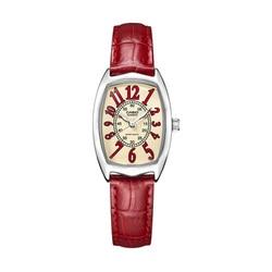 Casio horloge kleine rode horloge riem quartz kleine vierkante horloge LTP-1208E-9B2