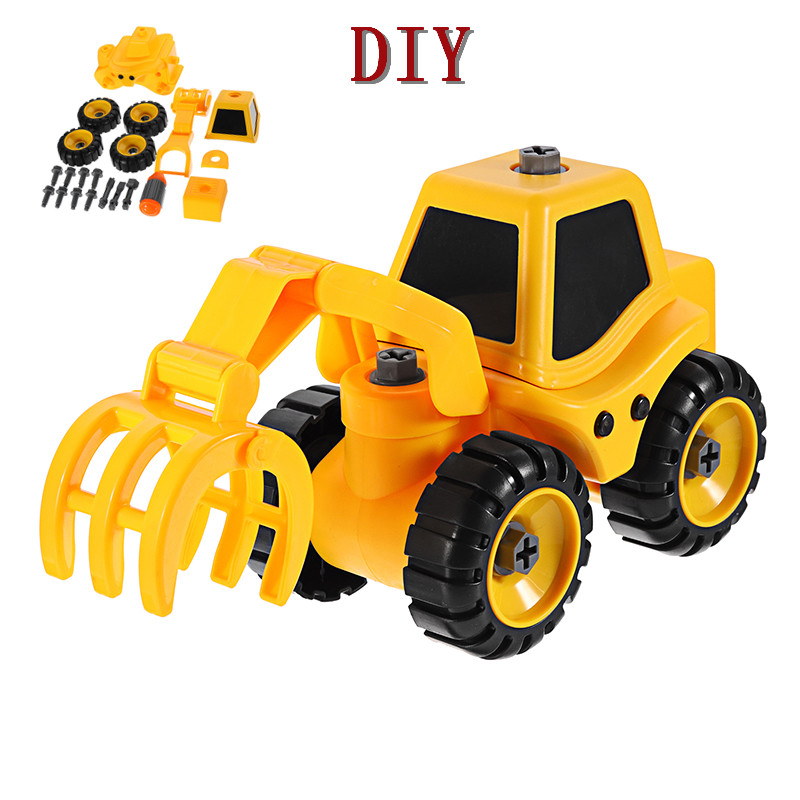 6 Styles Puzzle DIY Game Disassembly Car Assembled Plastic Screwdriver Cars Truck Toys Model Gifts for Children Kids Boys