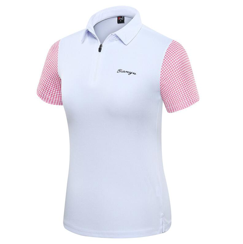 2019 new golf sportswear apparel summer ladies short-sleeved T-shirt top Women breathable Quick Dry Golf Sport Shirts S-2XL