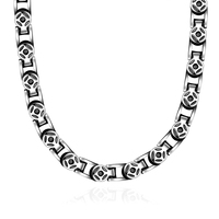 High Quality Fashion HipHop Jewelry Friend Gifts Stainless Steel Coin Long Chain Black Color Necklace Men