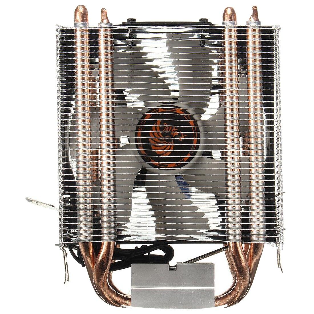 4 Heatpipe CPU Cooler Dissipatore di Calore di raffreddamento per Intel LGA 1150 1151 1155 775 1156 (PER AMD) Nuovo