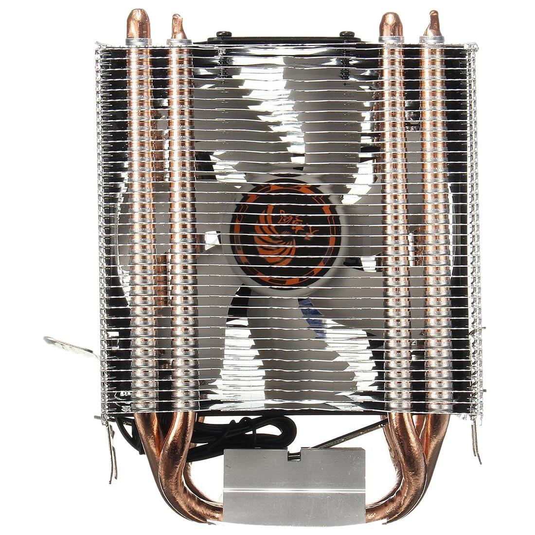 4 Heatpipe CPU Cooler disipador de calor para Intel LGA 1150 1151 1155 775 1156 (para AMD) Nuevo