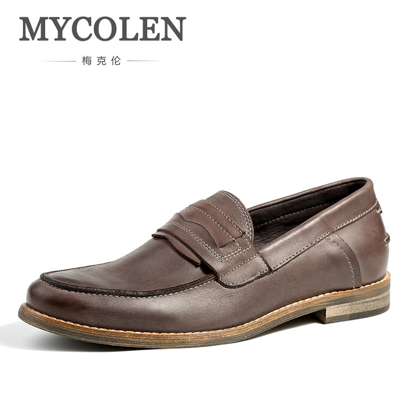 MYCOLEN Luxury Brand Shoes Luxury Designer Men Genuine Mens Loafers Comfortable Moccasins Men Casual Shoes Sepatu Casual Pria все цены