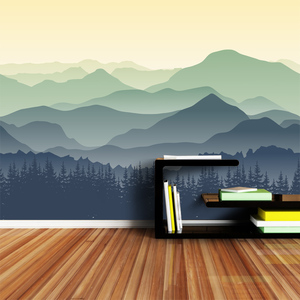 Image 5 - ShineHome Custom Chinese Oil Ink Painting Mountain Nature Wallpapers 3 d Wall Paper Wallpaper Mural Roll for Living Room Walls